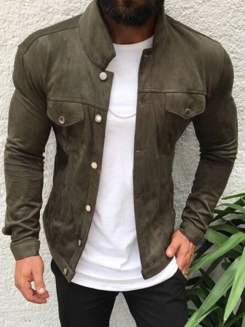 Ericdress Pocket Lapel Plain Fall Slim Jacket
