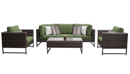 Barcelona BARCELONA-06r-BRN-CILANTRO 6-Piece Patio Set 06r with 2 Corner Chairs  1 Armless Chair  2 Club Chairs and 1 Coffee Table - Beige and