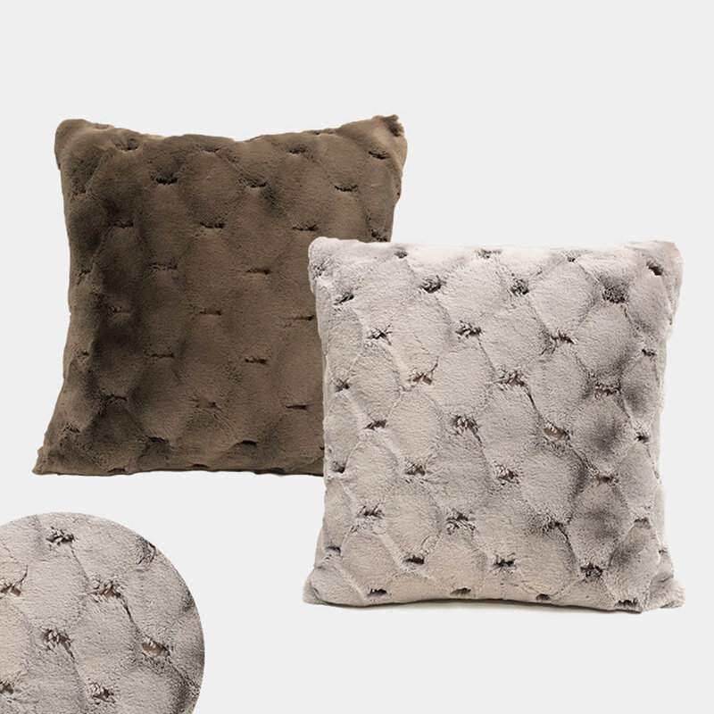 Sofa Pillowcase Nordic Simple Rabbit Hair Cushion Living Room Bedroom Simple Cushion
