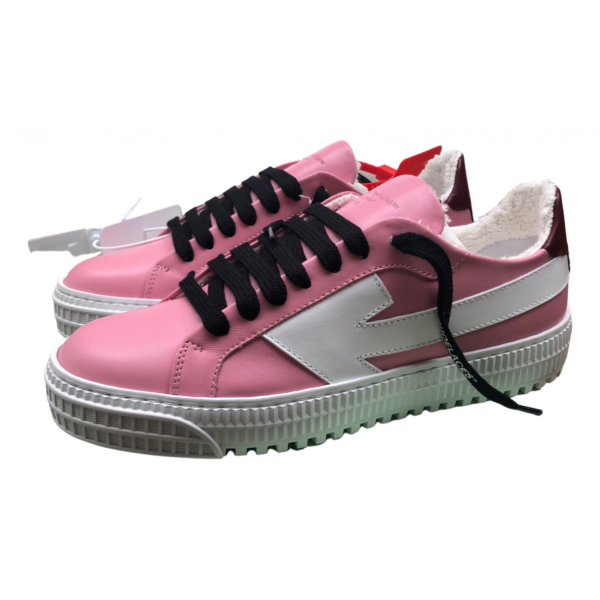 Off-white Arrow Pink Leather Trainers for Women 35 EU