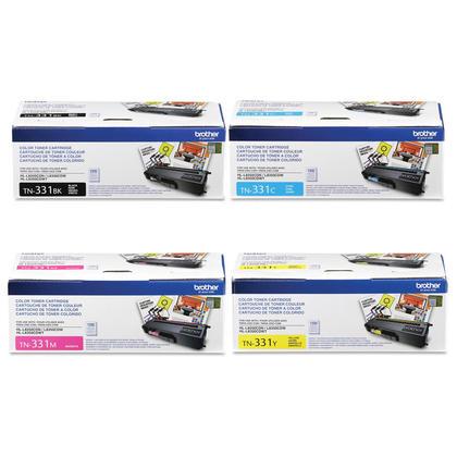 Brother HL-L8250CDN Original Toner Cartridges Black/Cyan/Magenta/Yellow, 4-Pack Combo