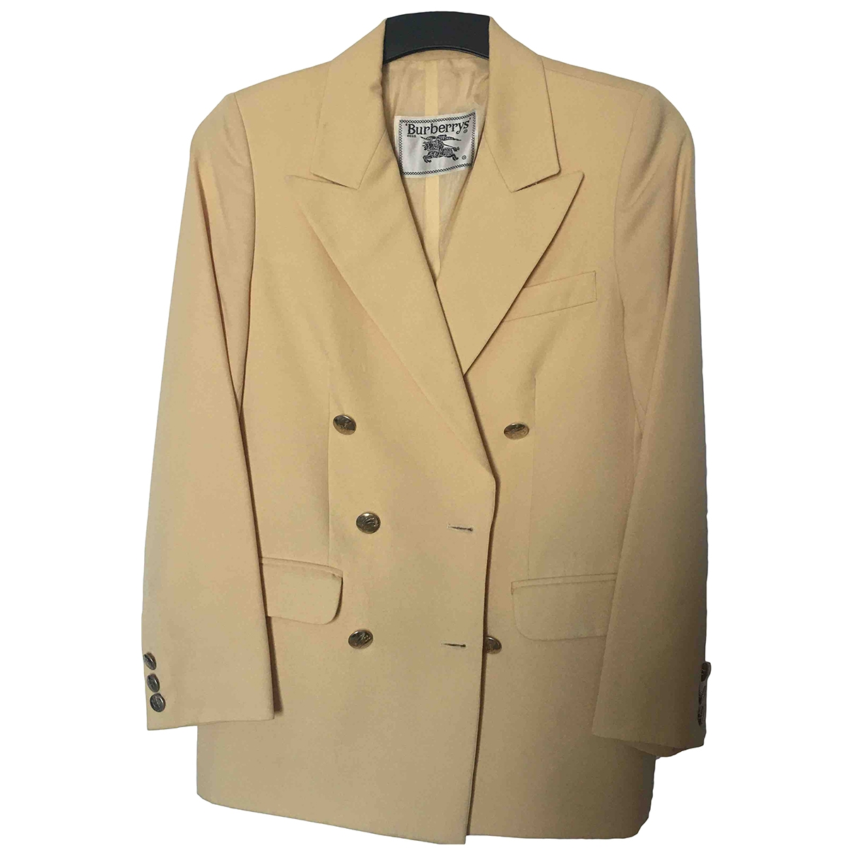 Burberry \N Yellow Wool jacket for Women 36 FR