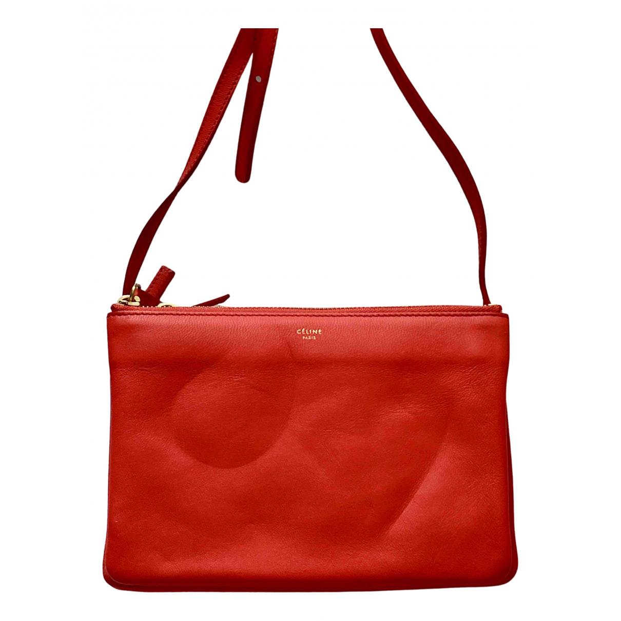 Celine Trio Orange Leather handbag for Women \N