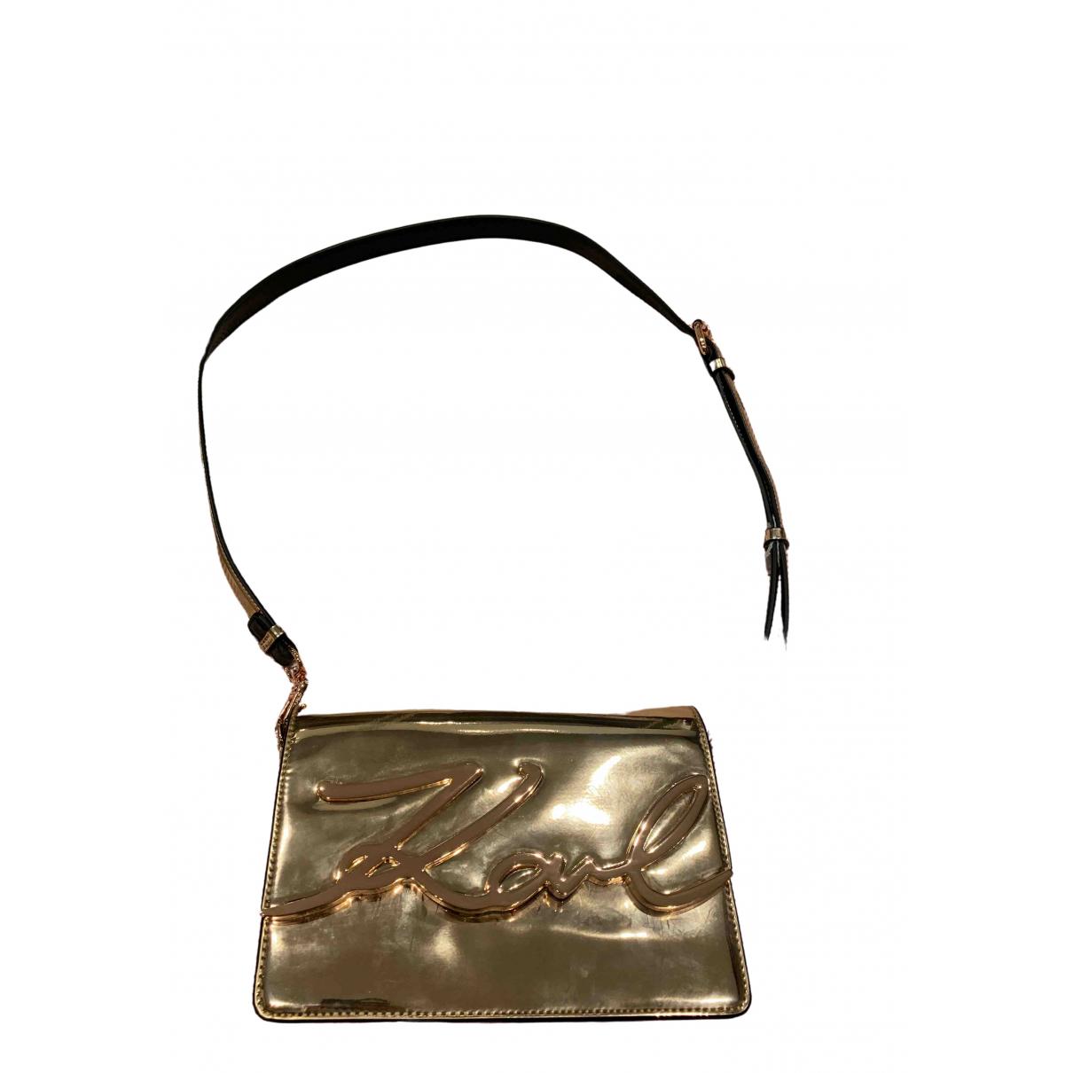 Karl Lagerfeld \N Clutch in  Gold Leder
