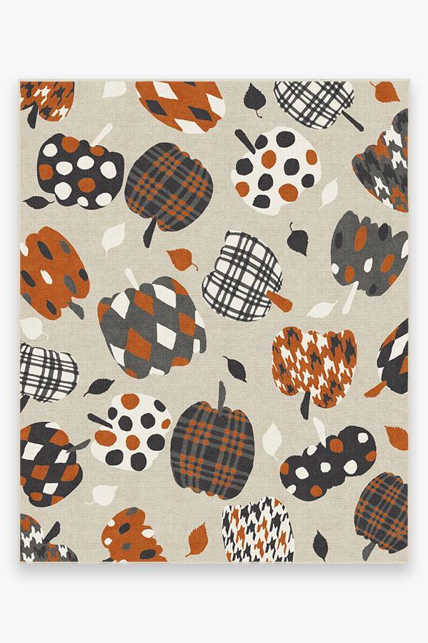 Washable Rug Cover | Pumpkin Orange Rug | Stain-Resistant | Ruggable | 8'x10'
