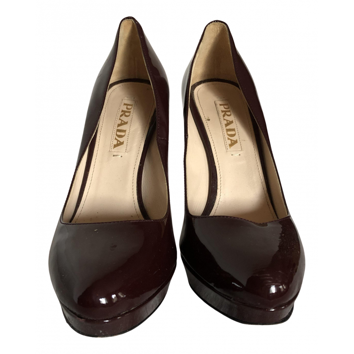 Prada N Burgundy Patent leather Heels for Women 36 IT