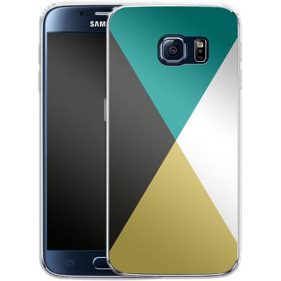 Samsung Galaxy S6 Silikon Handyhuelle - Four Triangles von caseable Designs