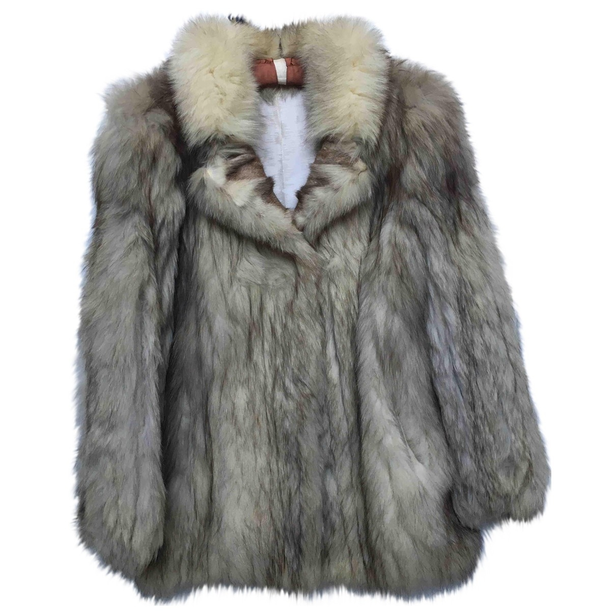Non Signé / Unsigned \N Beige Fox coat for Women M International