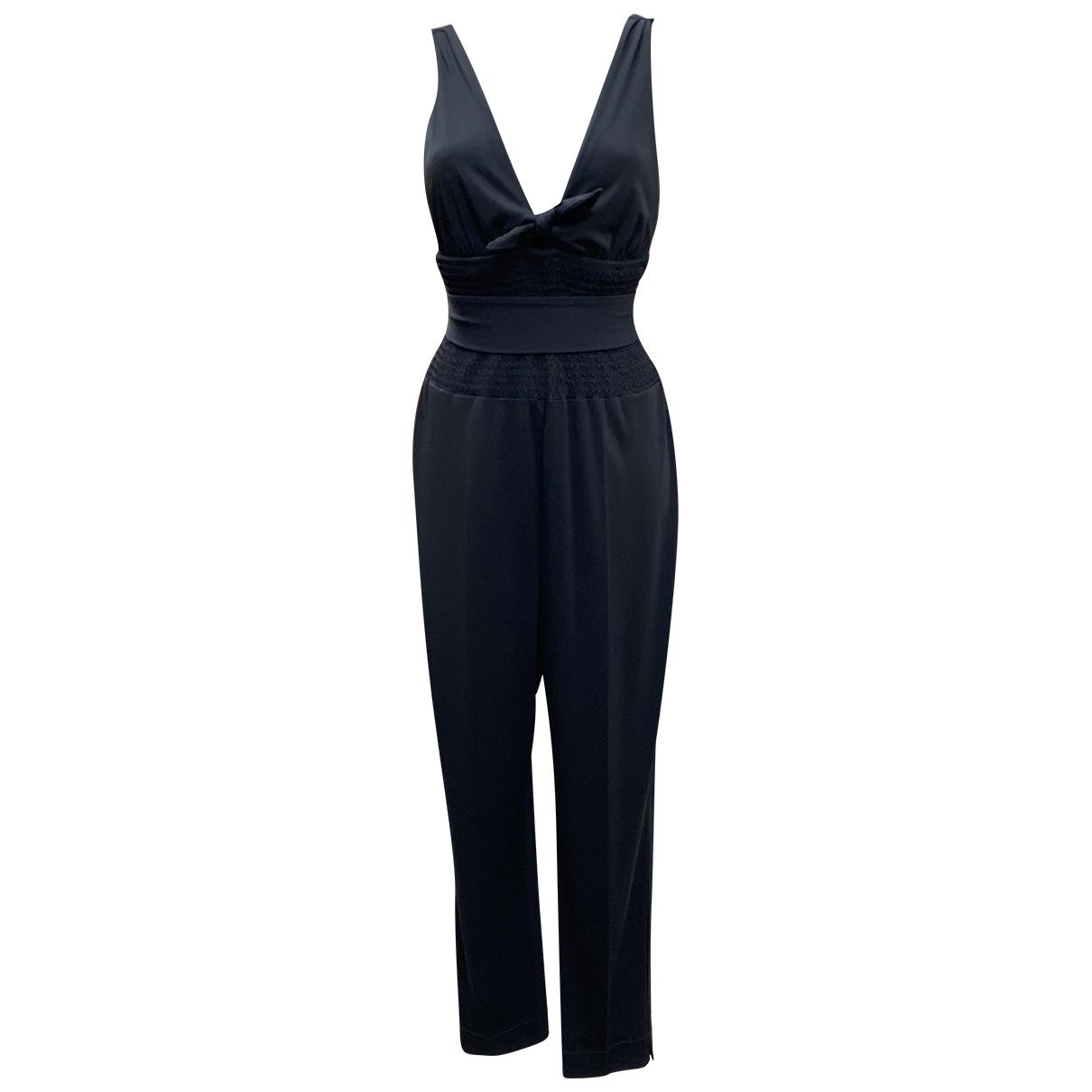 Yves Saint Laurent - Combinaison   pour femme en soie - noir