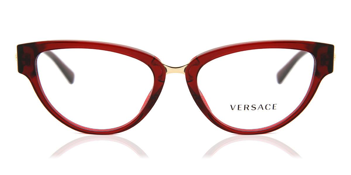 Versace VE3267 388 Women's Glasses Red Size 51 - Free Lenses - HSA/FSA Insurance - Blue Light Block Available