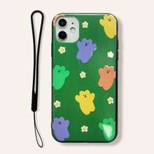 Cartoon Graphic iPhone Case With Lanyard