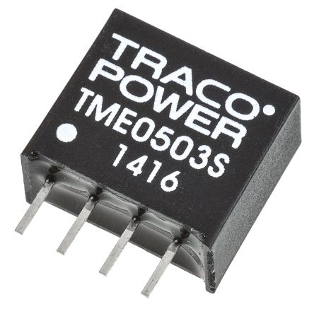 TRACOPOWER TME 1W Isolated DC-DC Converter Through Hole, Voltage in 4.5 → 5.5 V dc, Voltage out 3.3V dc