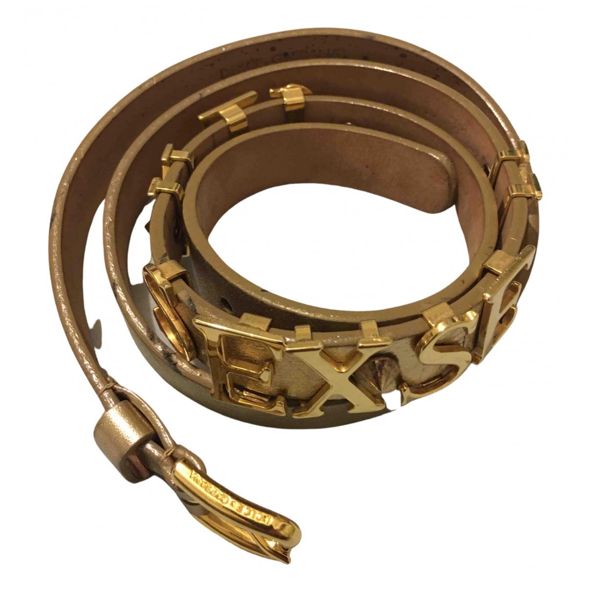 Dolce & Gabbana \N Guertel in  Gold Leder