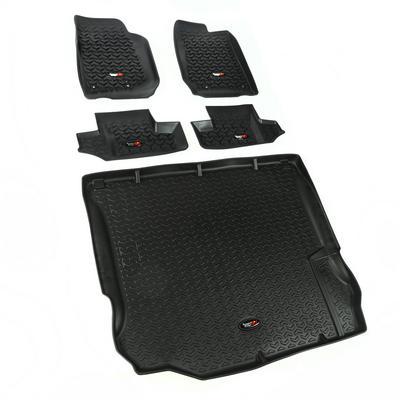 Rugged Ridge All Terrain Floor Liner Kit (Black) - 12988.03
