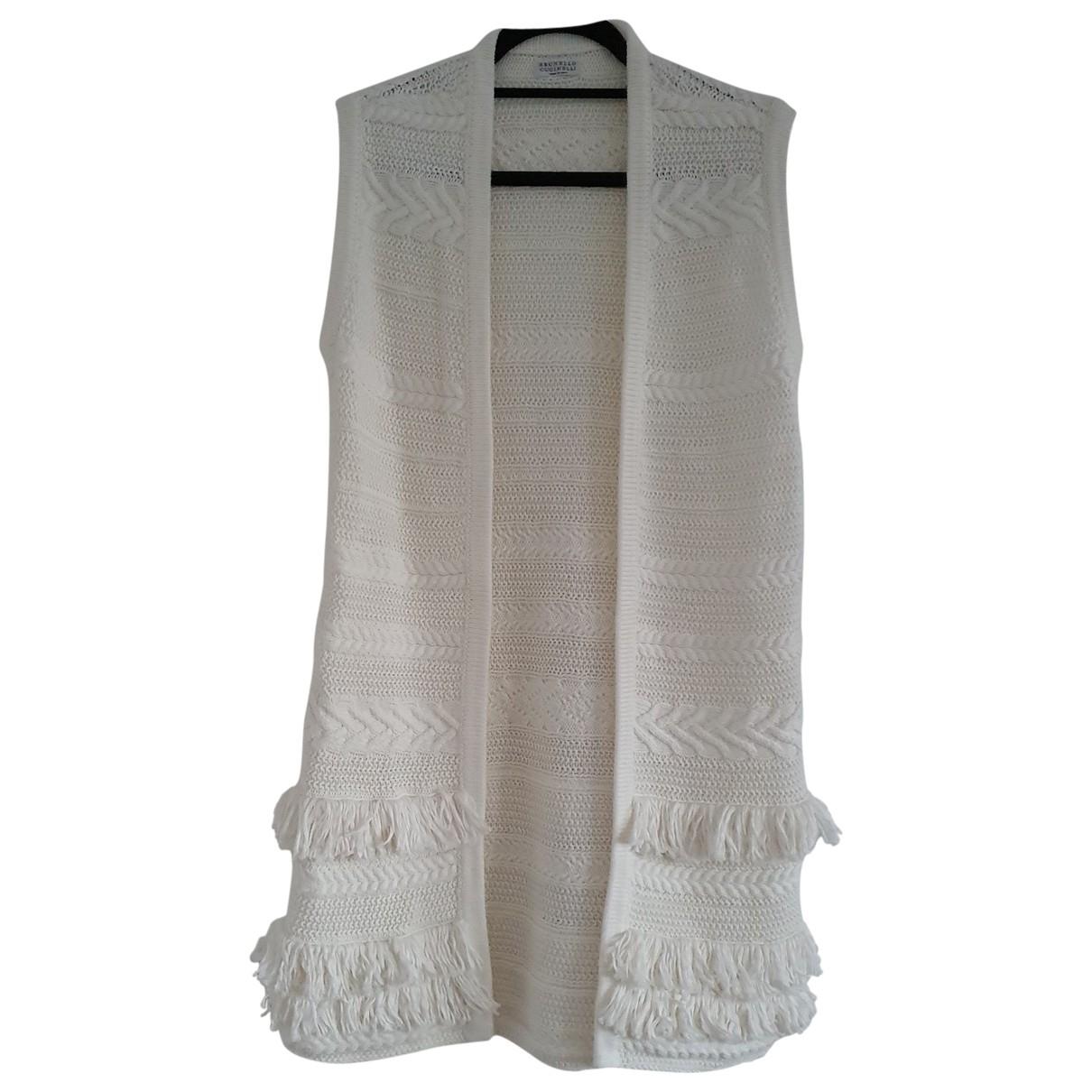 Brunello Cucinelli \N Beige Cotton Knitwear for Women One Size FR