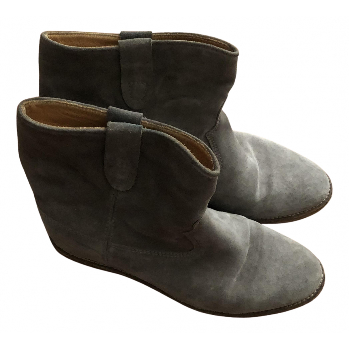 Isabel Marant N Beige Suede Ankle boots for Women 40 EU