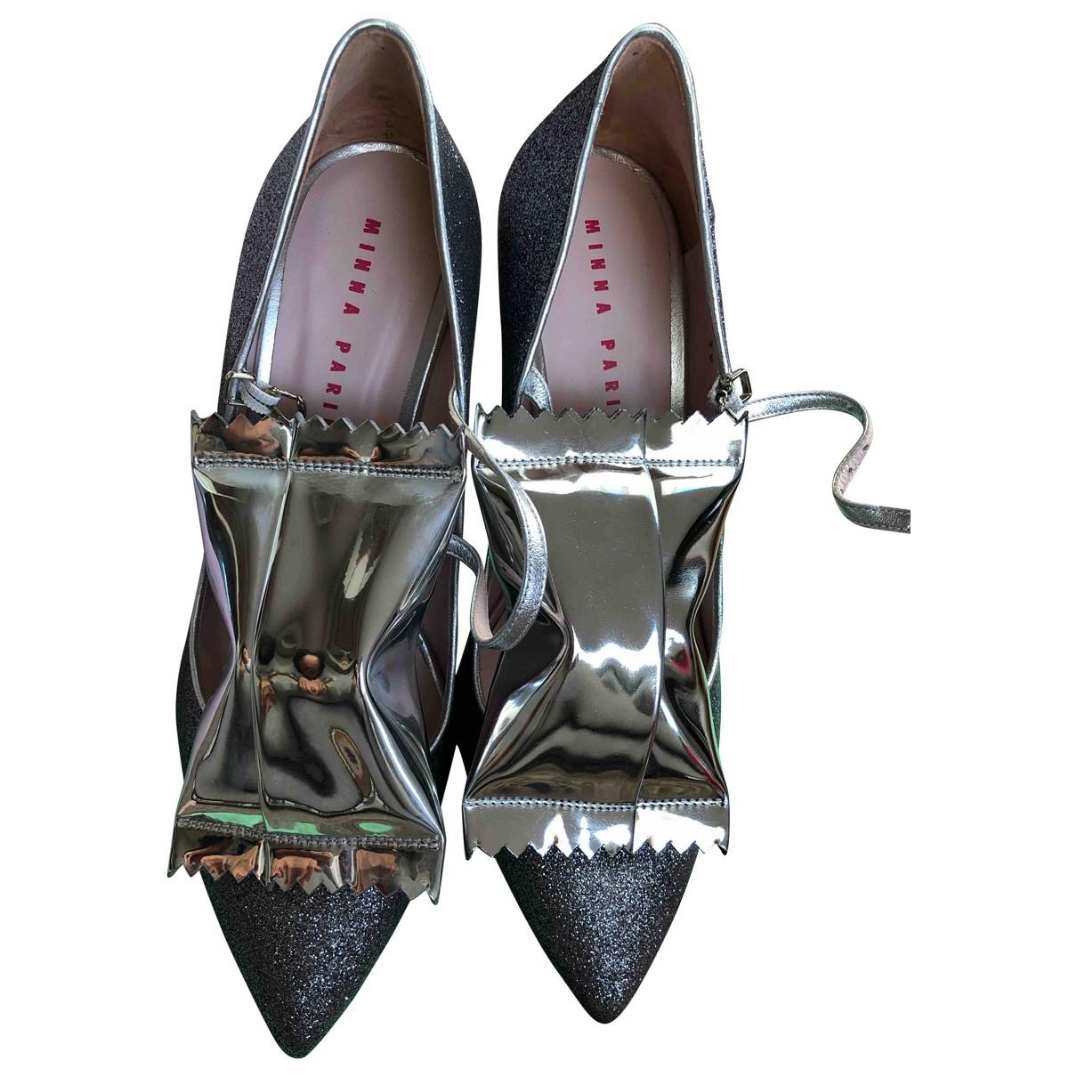 Minna Parikka \N Silver Leather Heels for Women 39 EU