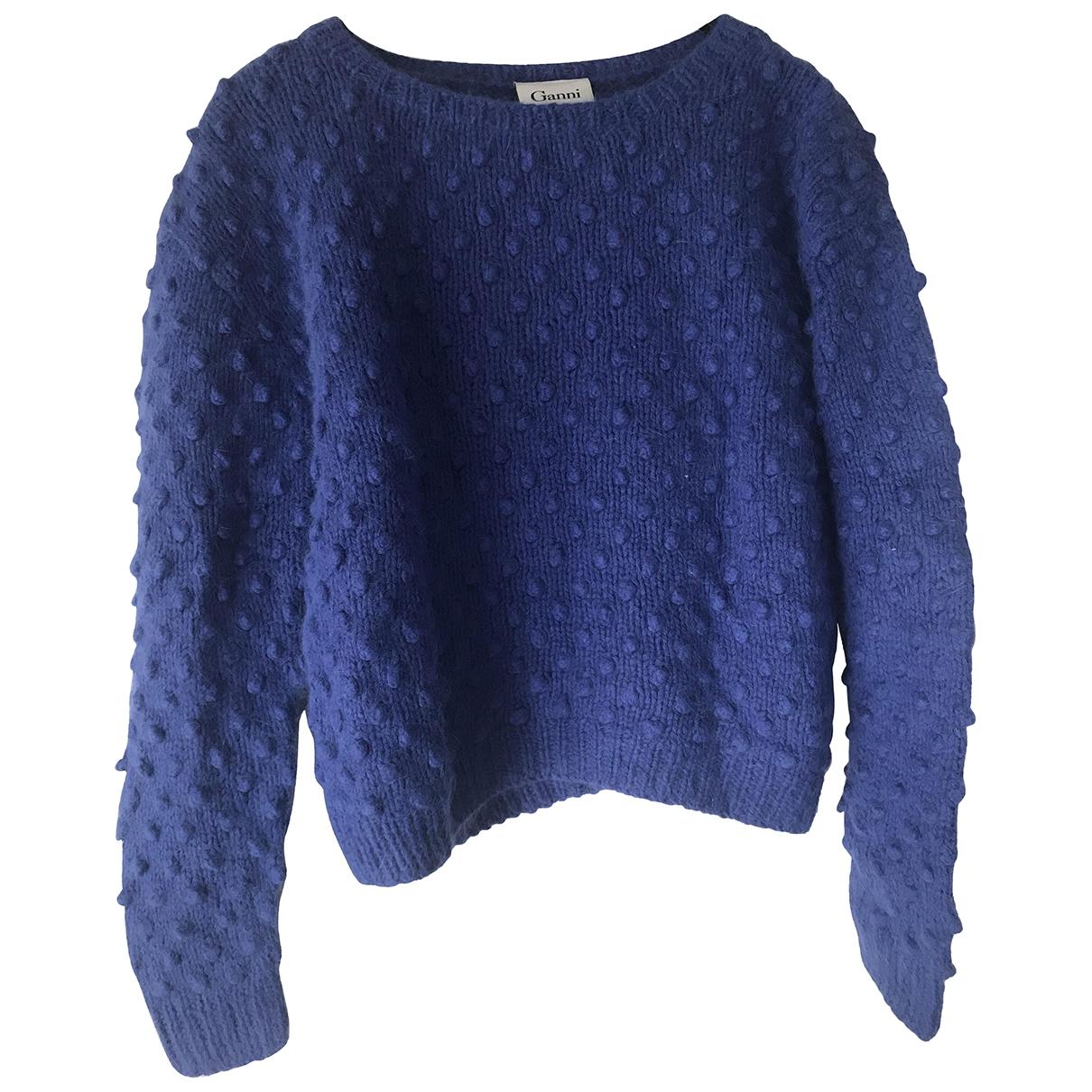 Ganni \N Pullover in  Blau Wolle