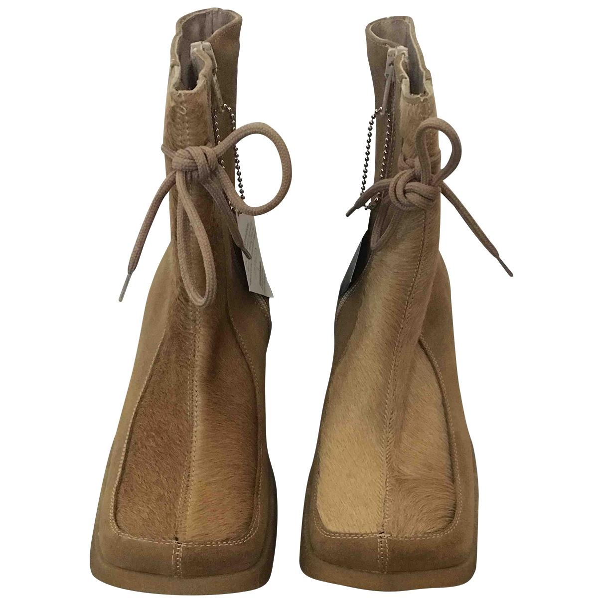 Simonetta \N Beige Suede Boots for Kids 34 EU