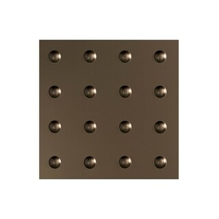 Fasade Dome Decorative Vinyl 2ft x 2ft Lay In Ceiling Tile in Argent Bronze (5 Pack) (12x12 Inch Sample)