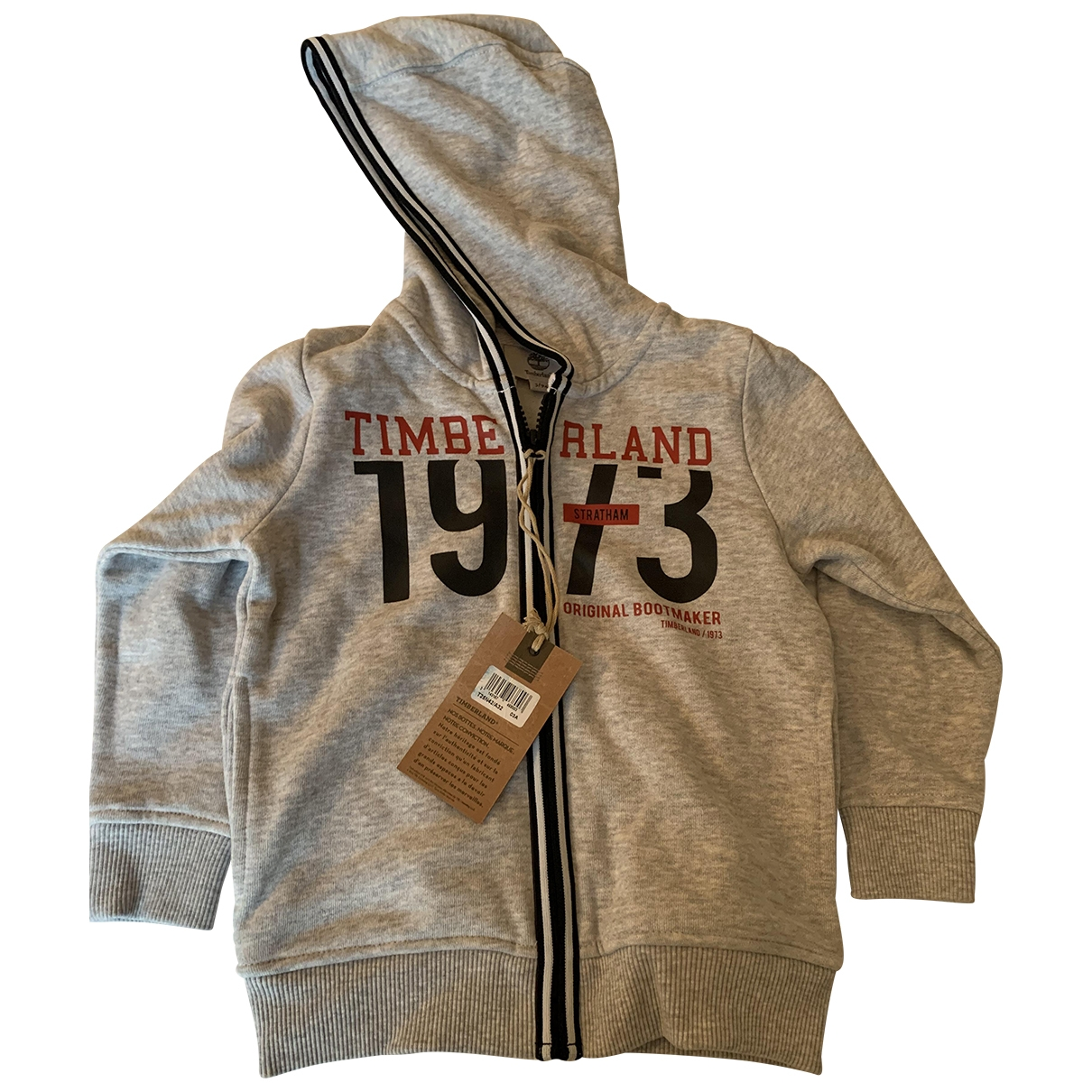 Timberland - Pull   pour enfant en coton - gris