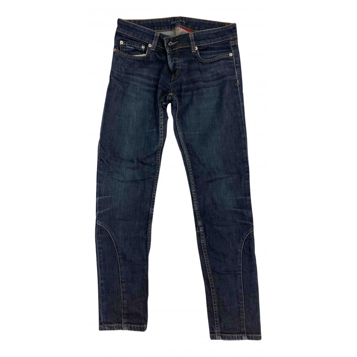 Prada N Blue Denim - Jeans Trousers for Women M International