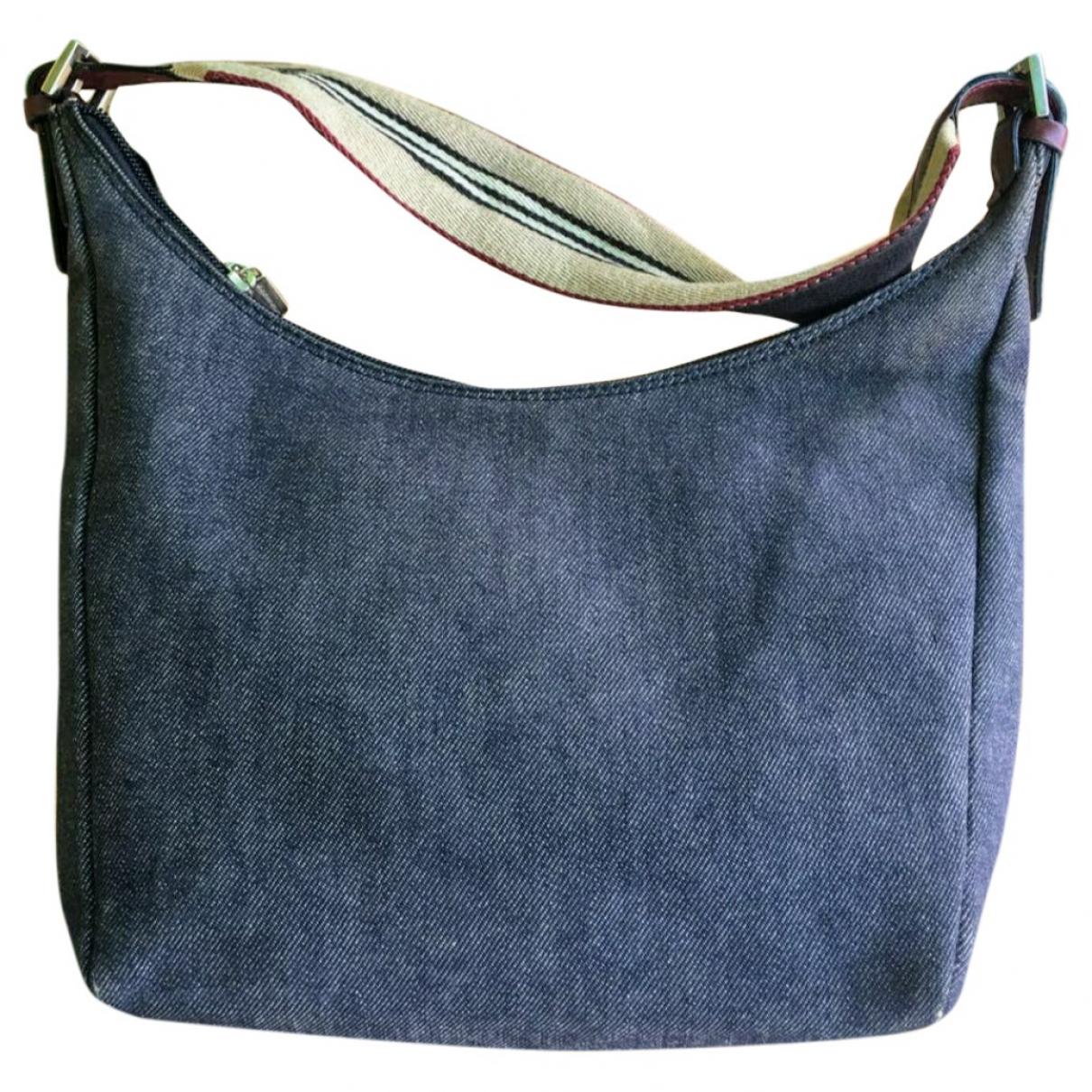 Burberry \N Handtasche in  Blau Denim - Jeans