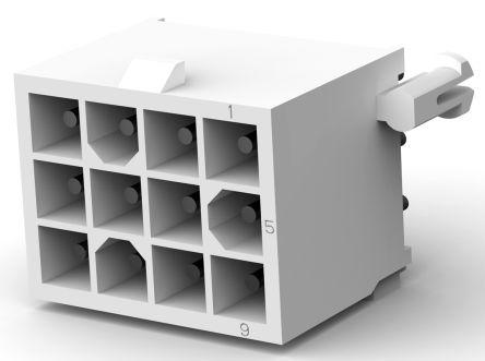 TE Connectivity , Mini-Universal MATE-N-LOK, 12 Way, 3 Row, Straight PCB Header (5)