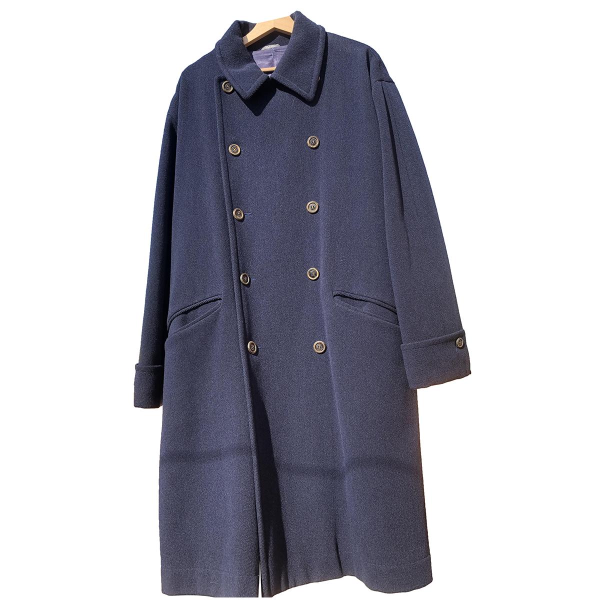 Byblos - Manteau   pour homme en laine - bleu