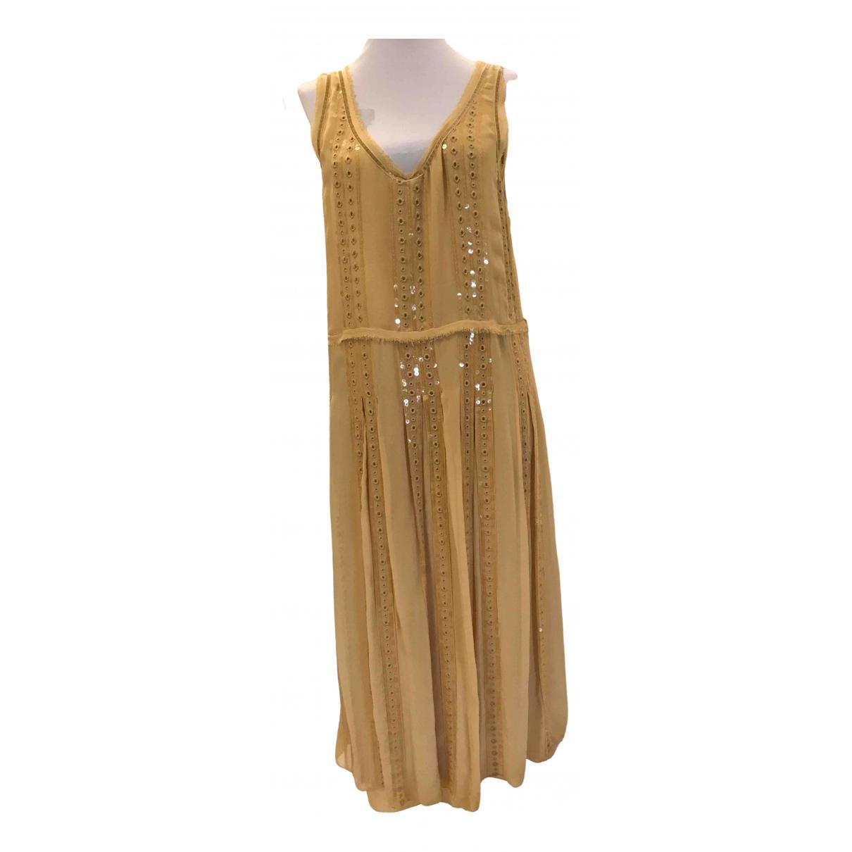Zara \N Kleid in  Gelb Viskose