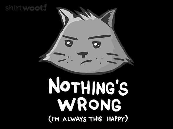Nothing's Wrong T Shirt
