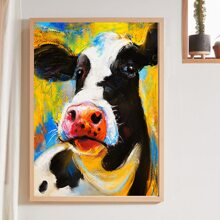 Cow Print Wall Painting Without Frame