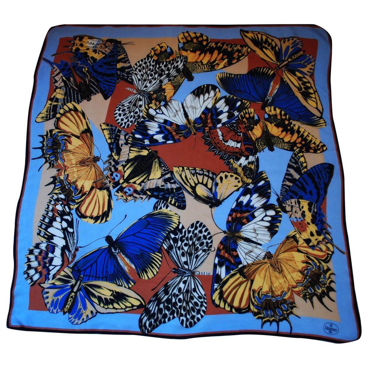 Elegance Paris \N Blue Silk scarf for Women \N