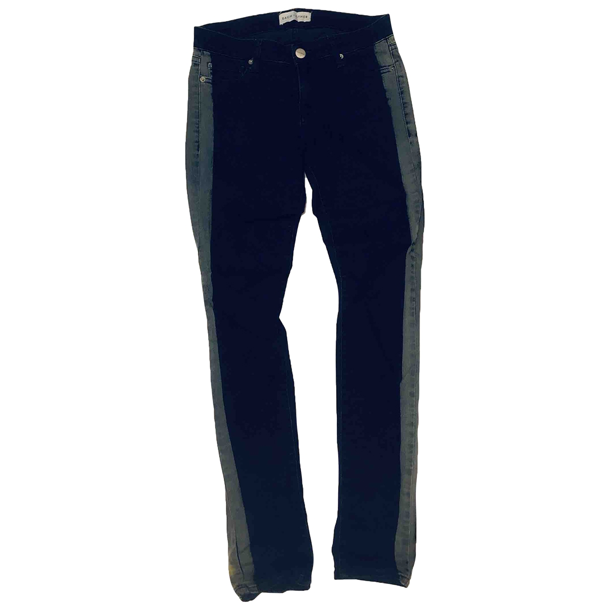 Each X \N Navy Cotton - elasthane Jeans for Women 27 US