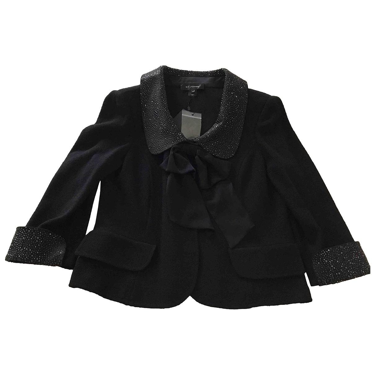 St John \N Black Wool jacket for Women 10 US