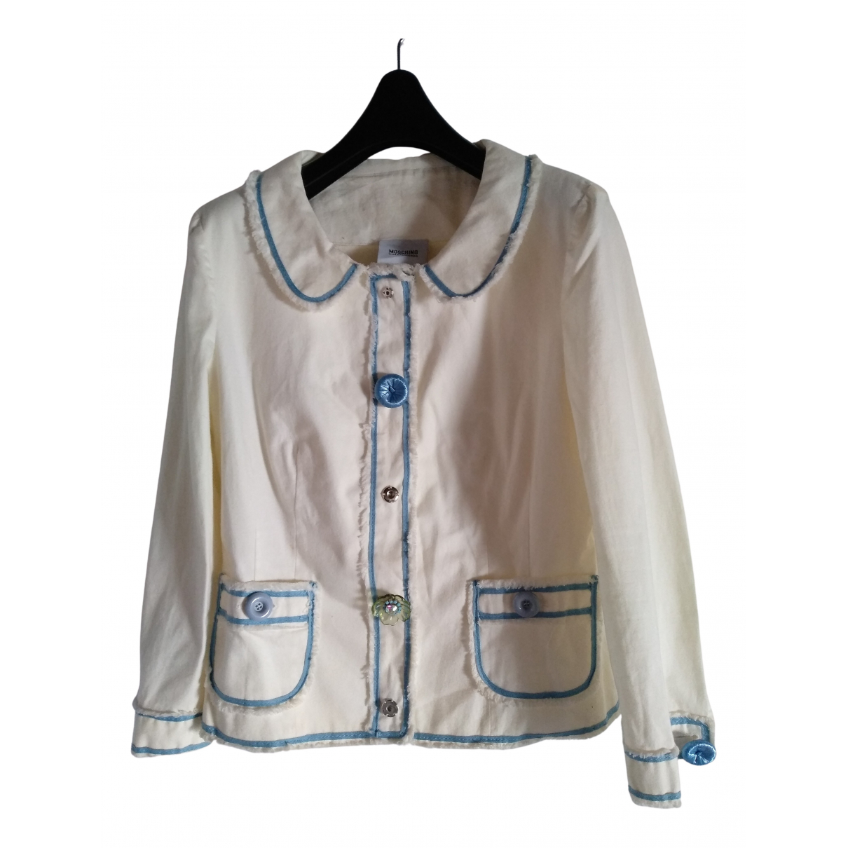 Moschino Cheap And Chic \N Jacke in  Weiss Baumwolle