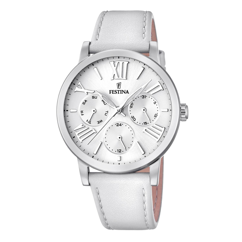 Festina Womens Boyfriend F20415-1F24 Silver Leather Quartz Fashion Watch