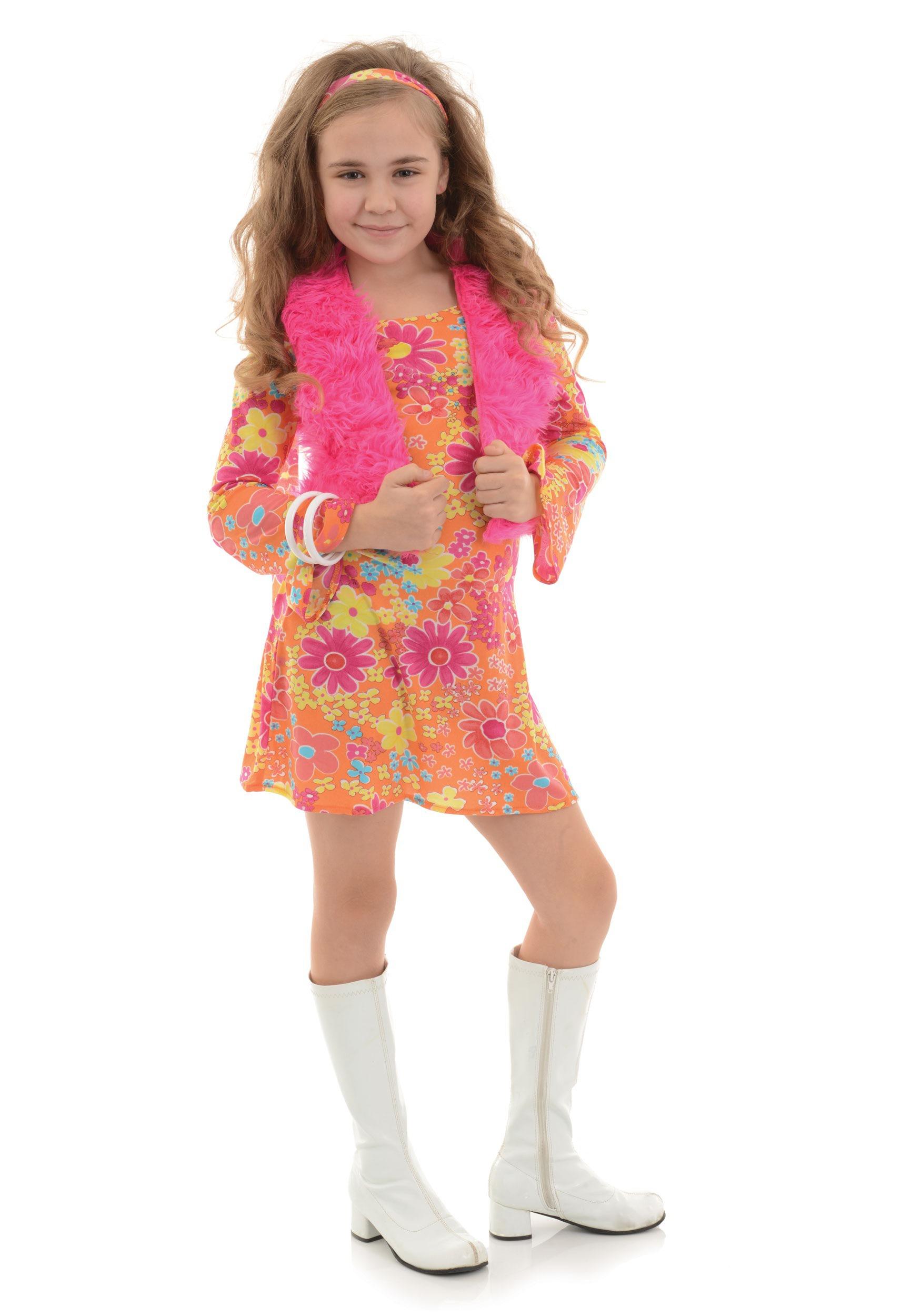 Flower Power 70s Girls Costume