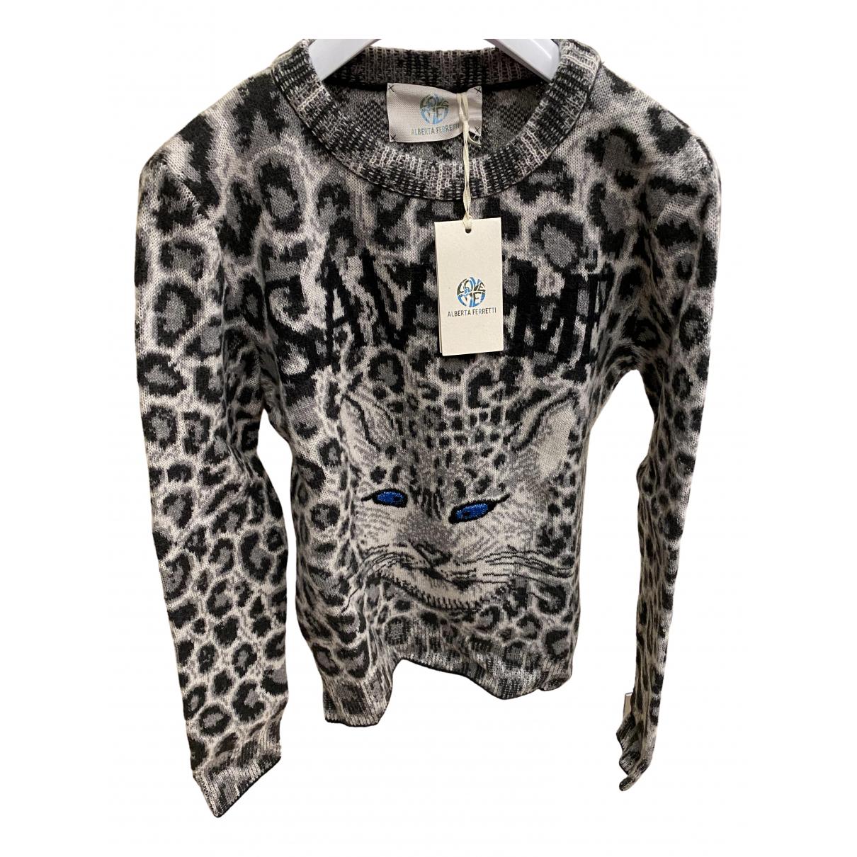 Alberta Ferretti - Pull   pour femme en laine - noir