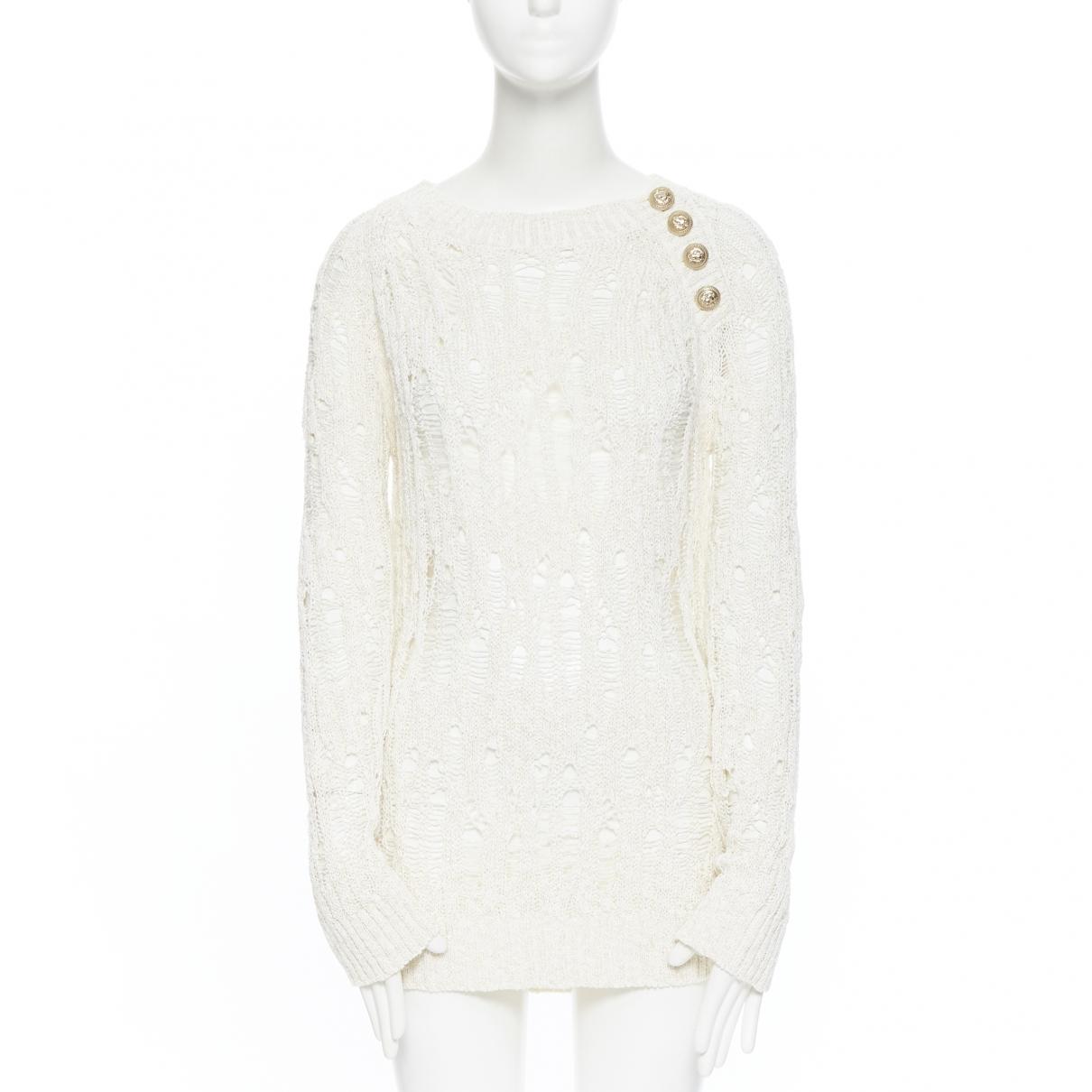 Balmain \N Pullover in  Beige Baumwolle