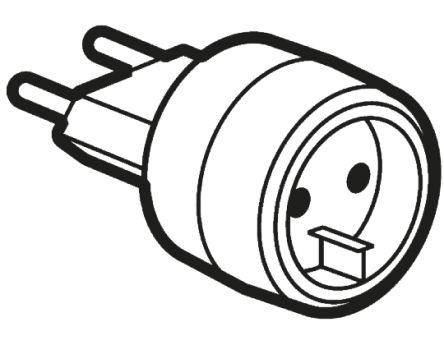 Legrand France to Germany Travel Adapter, Rated At 6A