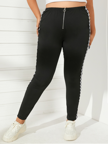 YOINS Plus Size Patchwork Pants