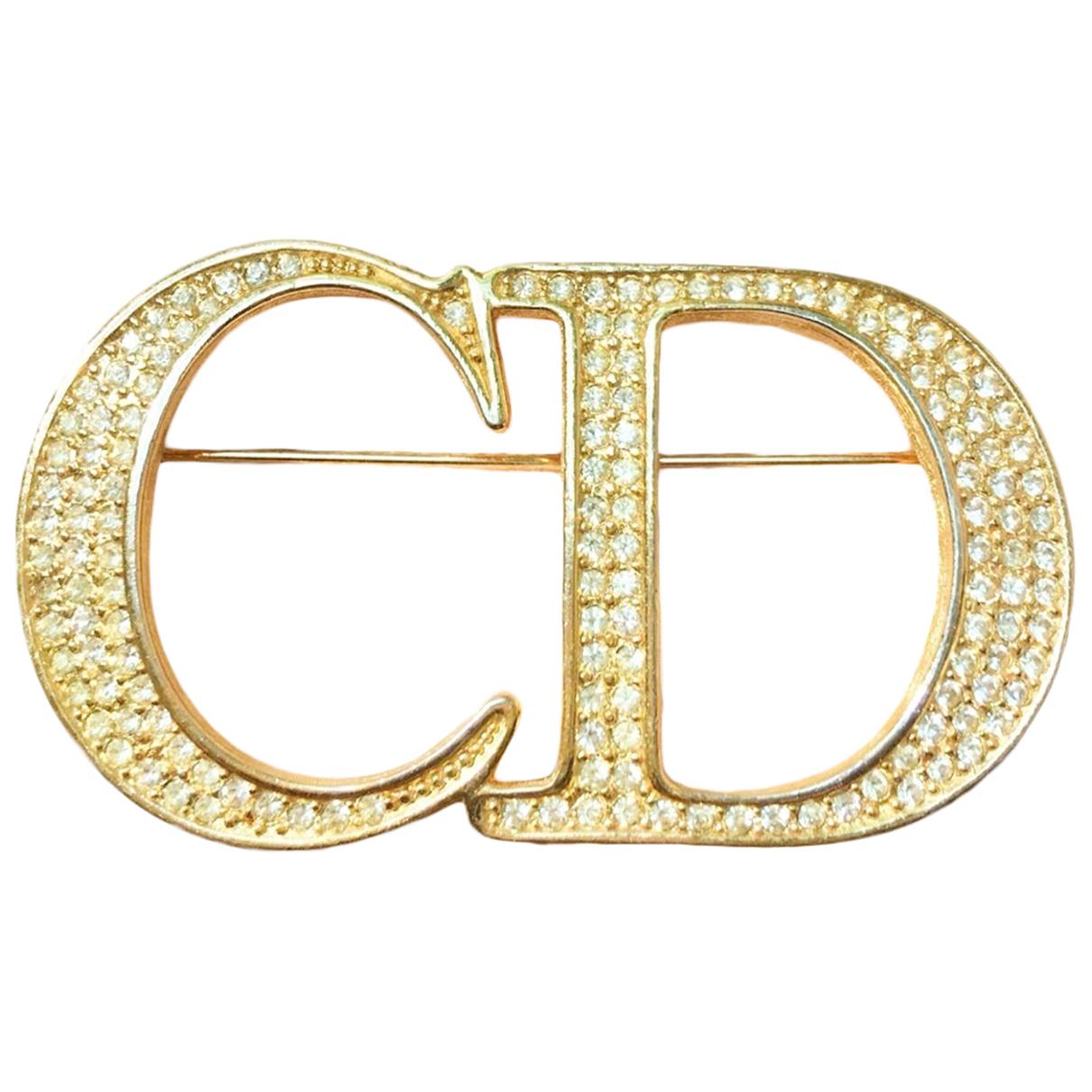Dior - Broche Monogramme pour femme en metal - dore
