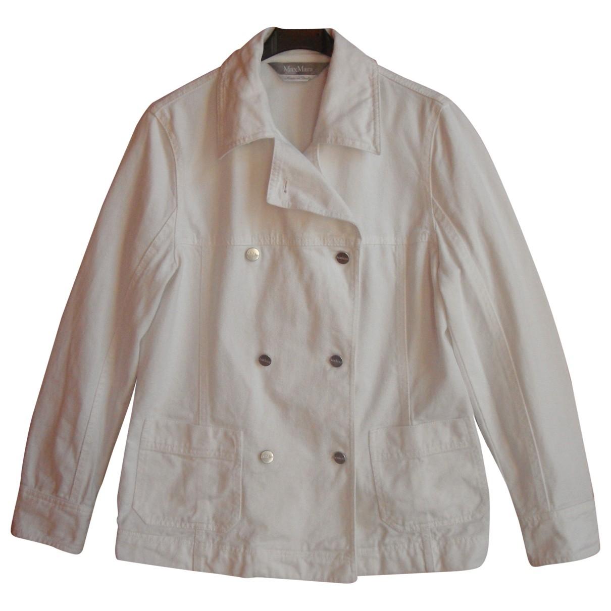 Max Mara \N White Cotton jacket for Women 38 FR