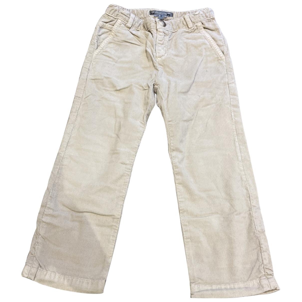 Pantalones en Algodon Beige Bonpoint