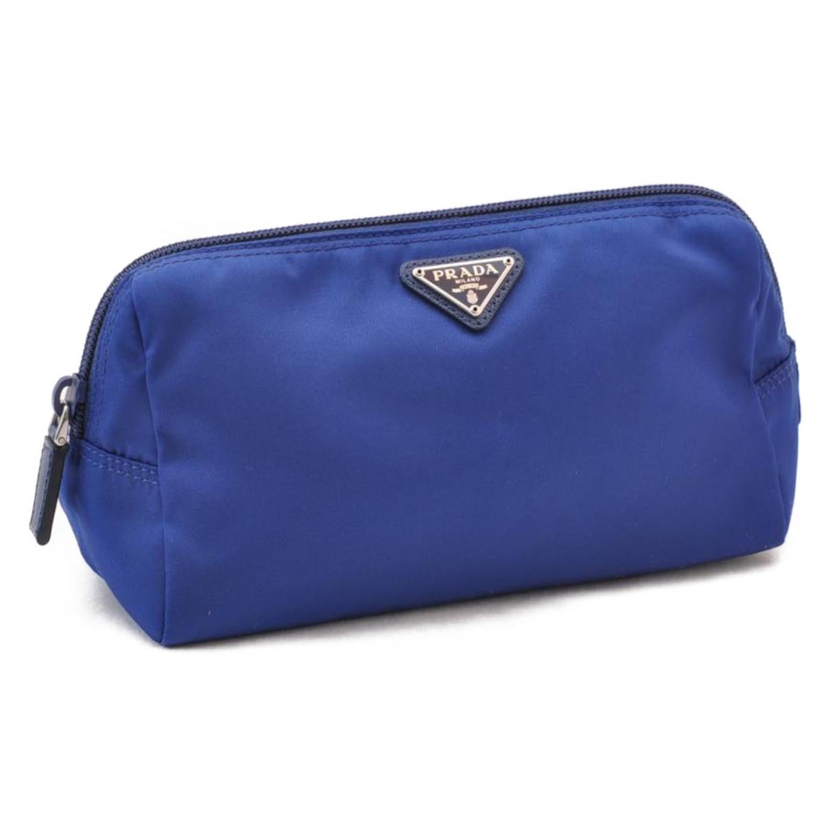 Prada - Pochette   pour femme en toile - bleu