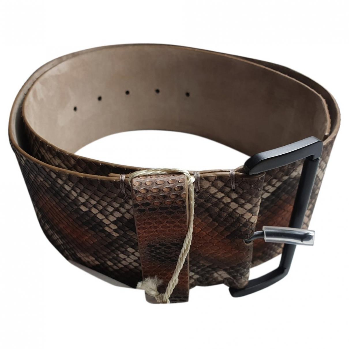 Cinturon de Piton Brunello Cucinelli