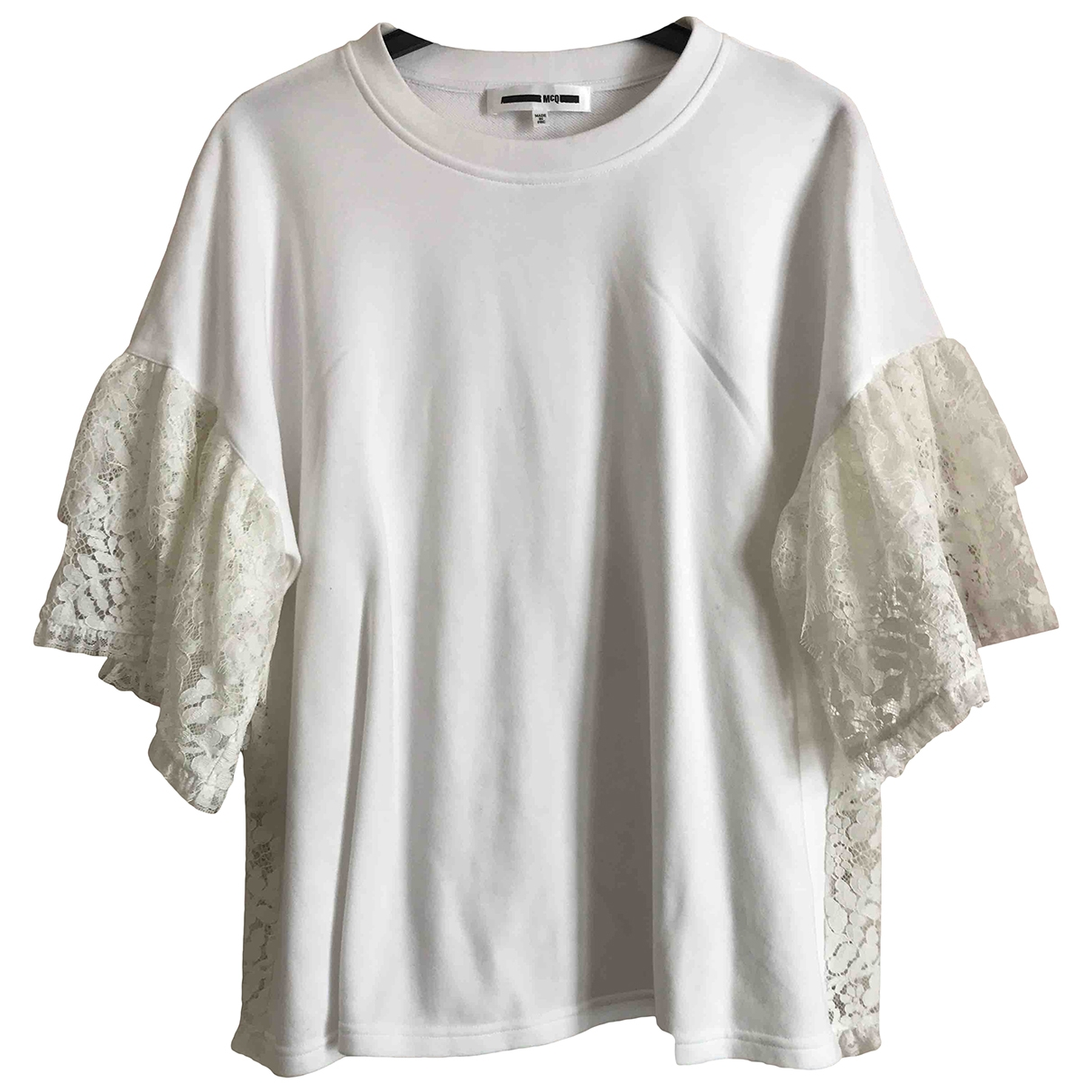 Mcq - Pull   pour femme en coton - blanc