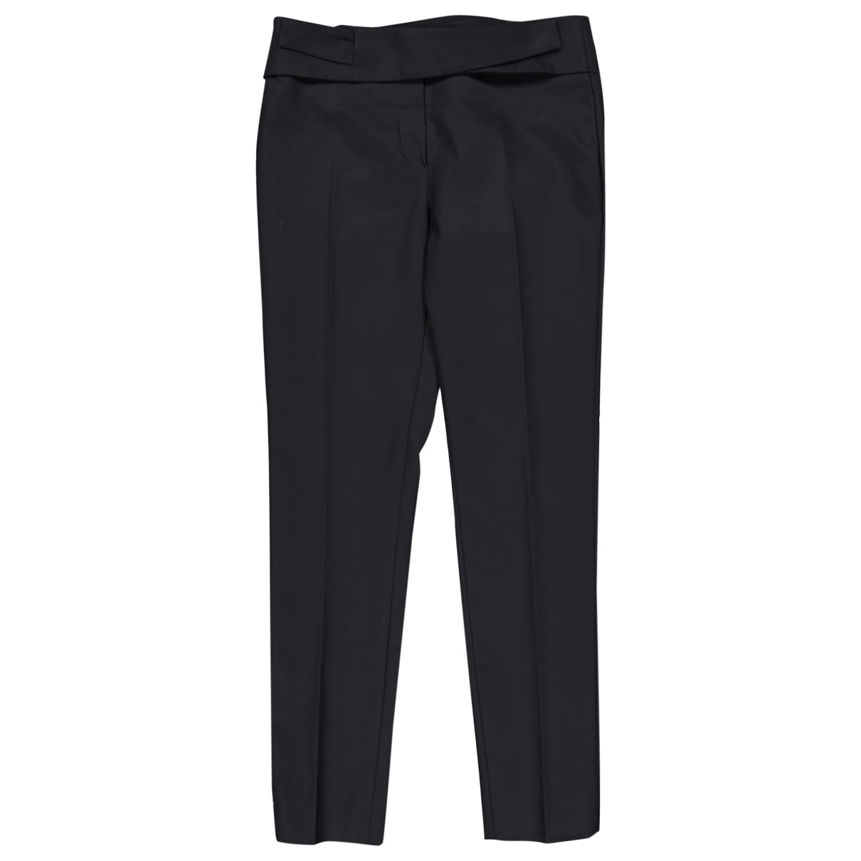 Dior \N Black Cotton Trousers for Women 36 FR
