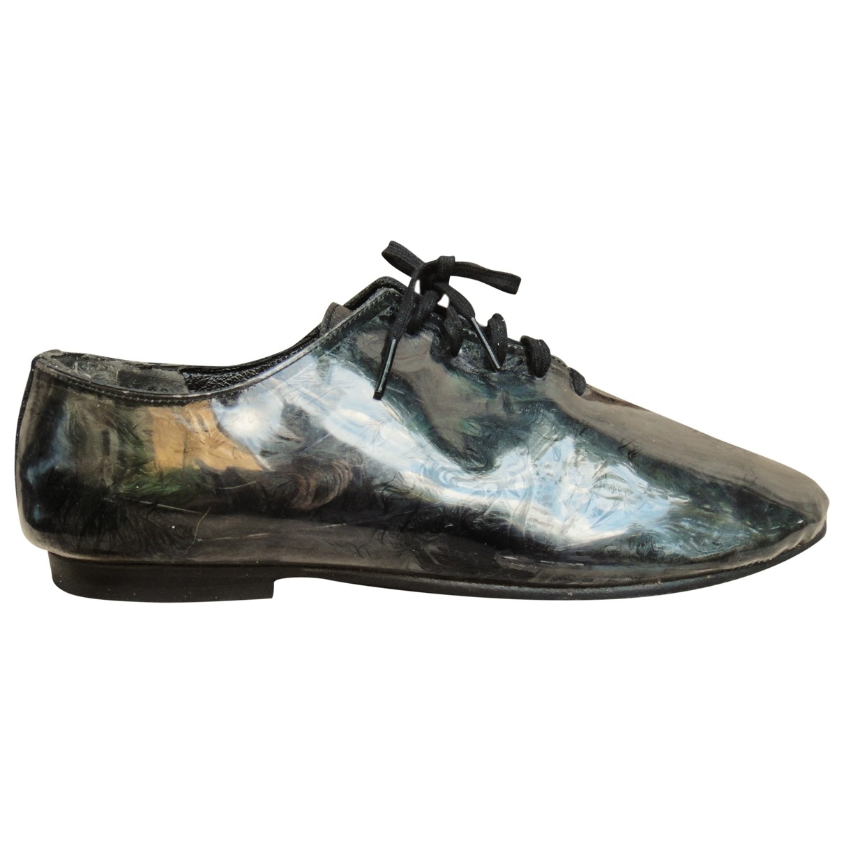 Comme Des Garcons \N Green Leather Lace ups for Women 36 EU